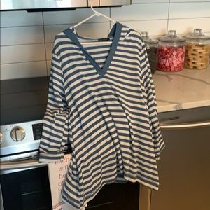 ONE SIZE FITS ALL STRIPED HOODED TUNIC